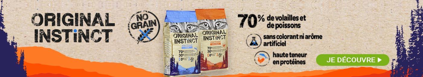 Original Instinct , croquettes sans céréales pour chat