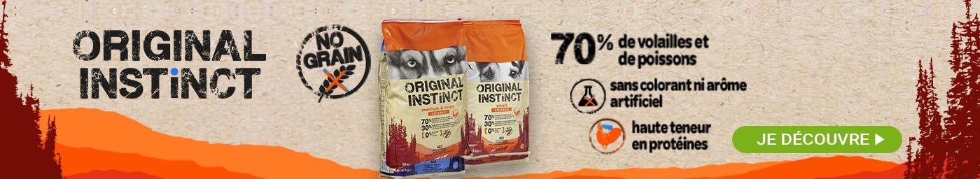 Original Instinct , croquettes sans céréales pour chien