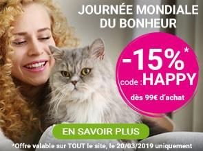 La Journée Mondiale du Bonheur : -15% sur tout le site
