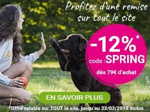 Pour le retour du printemps : -12% sur tout le site