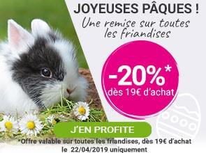 -20% sur toute les friandises dès 19€ d'achat