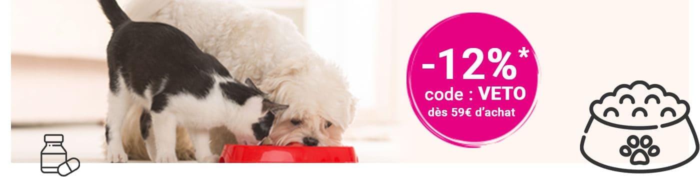 -12% sur l'alimentation vétérinaire et les compléments alimentaires