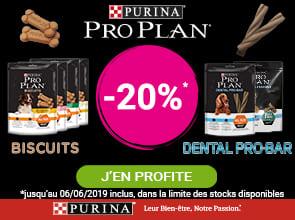 -20% sur les friandises Proplan pour chien