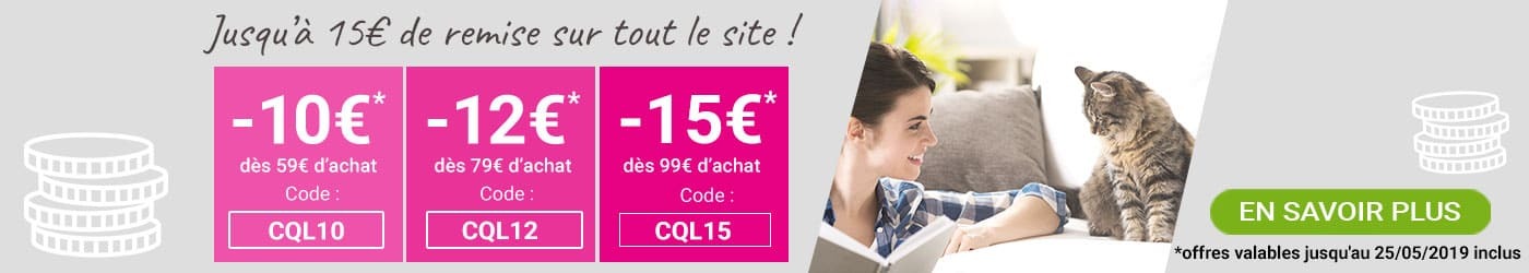 Profitez d'une remise immédiate sur tout le site : jusqu'à -15€