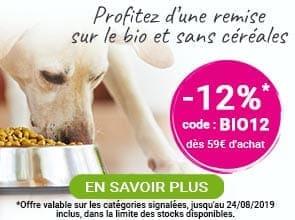 -12% sur l'alimentation bio et sans céréales