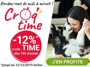 Entre Midi et Minuit : -12% sur tout le site, avec le code TIME , dès 79€ d'achat