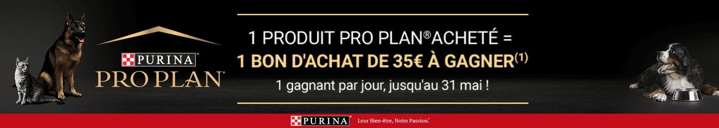 Les 35ans de Purina Proplan : Remporter un bon d'achat de 35€ pour toute commande d'un produit Proplan