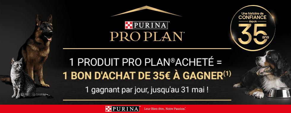 Les 35ans de Purina Proplan, remporter un bon d'achat de 35€ pour toute commande d'un produit Proplan