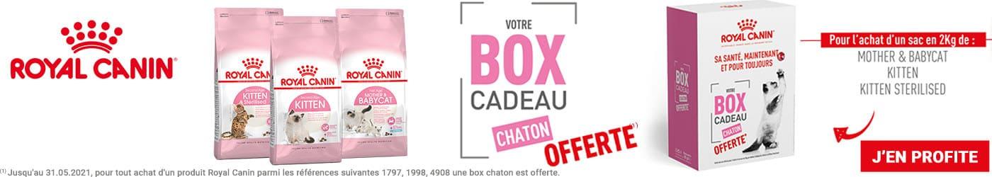 Royal canin Chaton : 1 box cadeau offerte pour tout achat d'un sac de 2kg