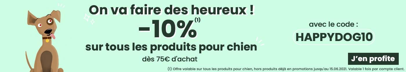 -10% sut tout les produits chien - code HAPPYDOG10 J'en profte