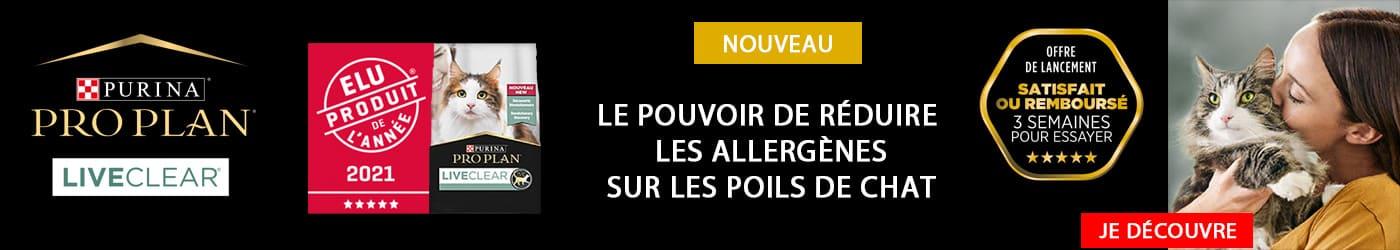 Proplan Live Clear pour chat : diminuer les risques d'allergies aux poils de chat. - Je découvre