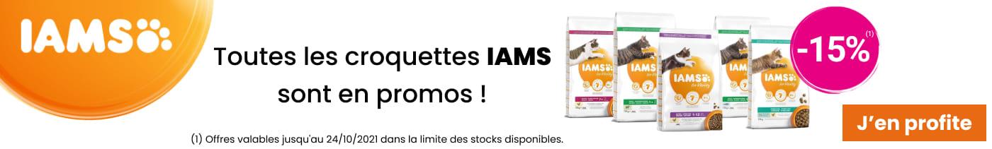 -15% sur sélection de croquettes IAMS chat