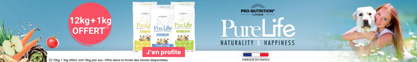 Pro-Nutrition Flatazor Pure Life pour chien : 12kg + 1kg offert, soit 13kg par sac