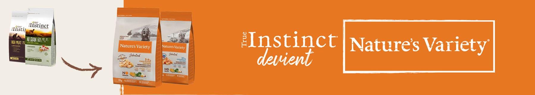 True Instinct devient Nature's Variety