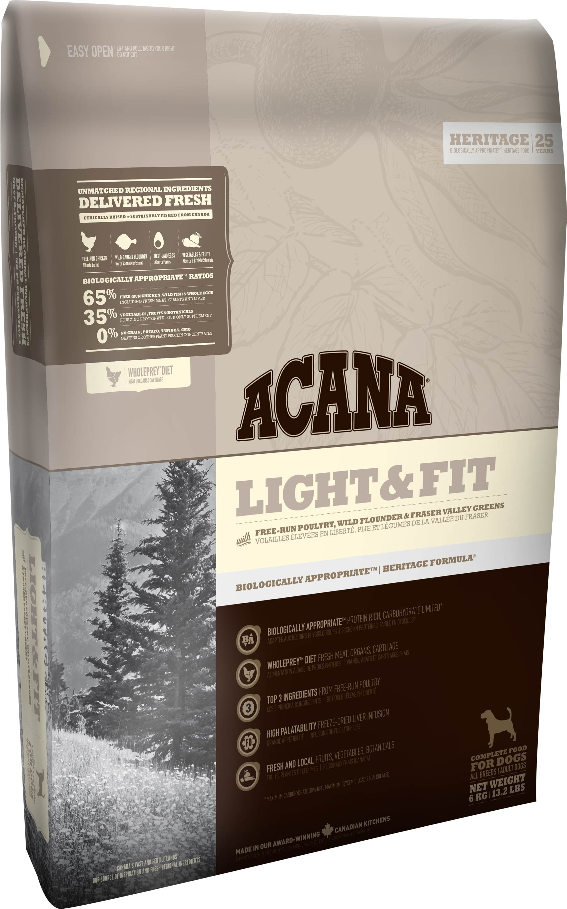 Acana Heritage Chien Light & Fit