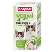 Beaphar VERMIpure Comprimés purge spécial vers et hygiène digestive Chaton/Chat