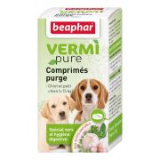 Beaphar VERMIpure Comprimés purge spécial vers et hygiène digestive Chiot/Petit chien (