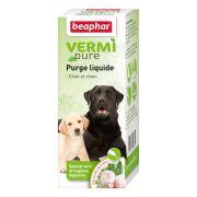 Beaphar VERMIpure Purge liquide spécial vers et hygiène digestive Chiot/Chien – 50 ml