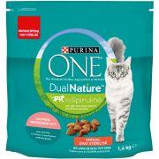 Purina One DualNature Chat Stérilisé - Spiruline et Saumon, sac de 1,4 kg