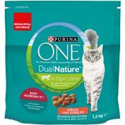 Purina One Dual Nature croquettes pour chat avec de la spiruline, sac