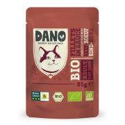 Sachet Dano Bio aux filets de bœuf pour chat