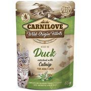 Carnilove Chat Pochon Canard & Cataire, sachet de 85 g