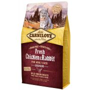 Carnilove Fresh Chat Adult Gourmand Poulet & Lapin, sac de 2 kg