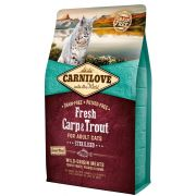 Carnilove Fresh Chat Adult Sterilised Carpe & Truite, sac de 2 kg