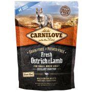 Carnilove Fresh Chien Small Breed Excellent Digestion Autruche & Agneau, sac de 1,5 kg