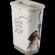 Conteneur à croquettes pour chien avec pelle