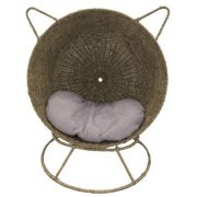 Couchage pour chat Comme un Soleil, en rotin