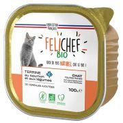 Felichef Bio Saumon Sans Céréales barquette pour chat
