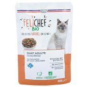 Sachet Felichef Bio Emincés au Saumon pour chat