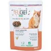 Sachet Felichef Bio Emincés à la Volaille pour chat