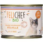Felichef Mousse Chat Sans Céréales Volaille – Boîte