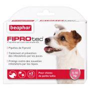 FIPROtec Antipuces et Antitiques Pipettes Petit chien 5-10 kg