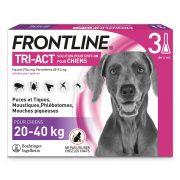 Pipettes antiparasitaires Frontline Tri-Act pour grand chien