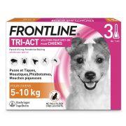Pipettes antiparasitaires Frontline Tri-Act pour petit chien 5 – 10 kg