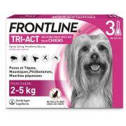 Pipettes antiparasitaires Frontline Tri-Act pour très petit chien 2 – 5 kg