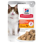 Sachets Hill's Science Plan Perfect Digestion pour chat