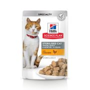 Hill's Science Plan Chat Sterilised Young Adult Poulet – Sachets