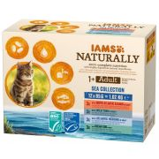 Iams Naturally Chat Adulte Collection Mer en Sauce