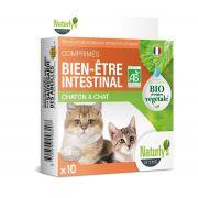 Naturly's Chaton/Chat Comprimés Bien-Etre Intestinal Bio