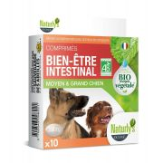 Naturly's Chien Moyen/Grand Comprimés Bien-Etre Intestinal Bio