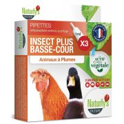 Pipettes antiparasitaires Naturly's Insect Plus Basse-Cour