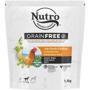 Nutro Grain Free au poulet pour chien adulte, sac de 1,4kg vu de face