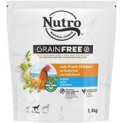 Nutro Grain Free pour chiot au poulet, sac de 1,4 kg vue de face