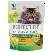 Croquettes Perfect Fit Natural Vitality saveur dinde et poulet, pour chat