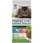 Sachets Perfect Fit Natural Vitality au saumon et poisson, pour chat stérilisé