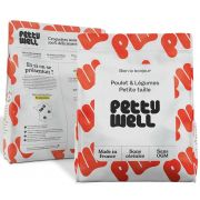 Croquettes Petty Well au poulet pour petit chien, sac de 2 kg